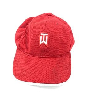 Nike Golf Tiger Woods Hat Red Mens Adjustable Back